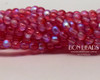 4mm Etched Rose Celestial Smooth Round Druk (600 Pieces)