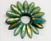 5x16mm Caribbean Turquoise Gold 2 Hole Daggers (300 Pieces)