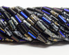 9x4mm Aged Noire Picasso Mix Bugles (1/4 Kilo)