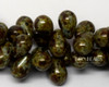 6x9mm Moss Bohemian Picasso Drops (150 Pieces)