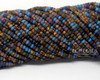 8/0 Aged Dark Frost Striped Picasso Mix (1/4 Kilo)