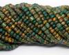 6/0 Aged Moss Mosaic Striped Tube Picasso Mix (1/4 Kilo)