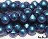 9x8mm Lapis Miracle Iris Standard Cap Mushroom Buttons (150 Pieces)