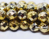 8mm Gold Ore Etched Round Fire Polished (150 Pieces)