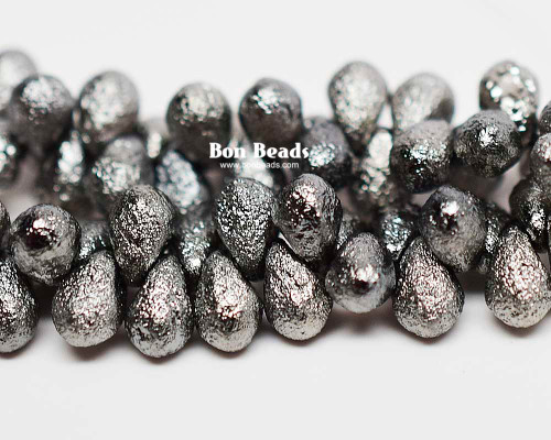 4x6mm  Chrome Etched Drops (300 Pieces)
