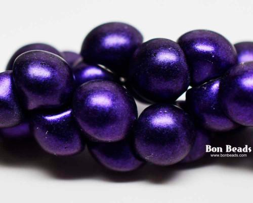 9x8mm Eggplant Iris Wide Cap Mushroom Buttons (150 Pieces)