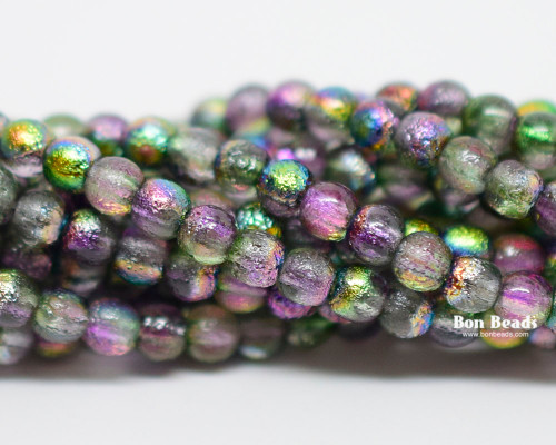 4mm Magic Orchid Etched Smooth Round Druks (600 Pieces)