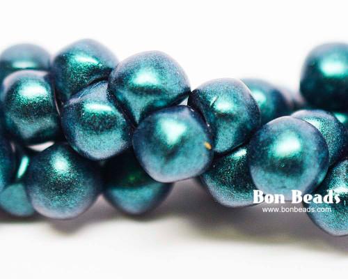 7mm Green Iris Wide Cap Mushroom Buttons (150 Pieces)