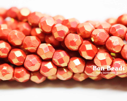 4mm Coral Moon Dust Round Fire Polished (600 Pieces)