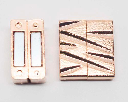 25x22x7mm  Copper Magnetic Z Bar Clasp (Each)