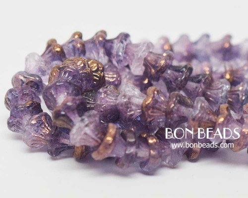 7x5mm Crystal Purple Luster Flower Cups (300 Pieces)