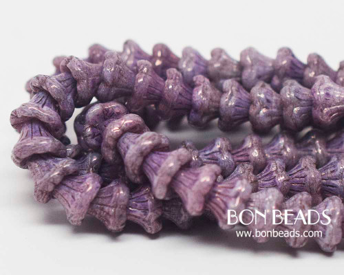 7x5mm Purple Luster Flower Cups (300 Pieces)