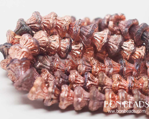 7x5mm Crystal Copper Etched Flower Cups (300 Pieces)
