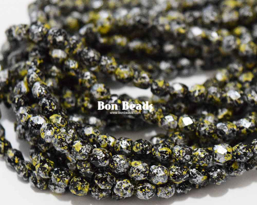 4mm Granite Galaxy Yellow Round Fire Polished (600 Pieces)