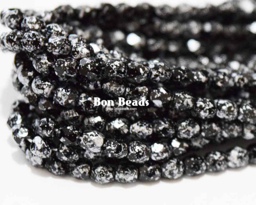 4mm Granite Galaxy Black Round Fire Polished (600 Pieces)
