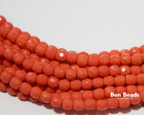 3mm Coral Round Fire Polished (600 Pieces)