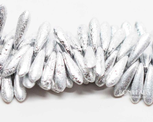 3x11mm Silver Ore Etched Daggers (300 Pieces)