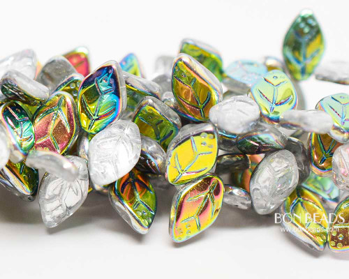 12x7mm Northern Lights Leaves (300 Pieces)
