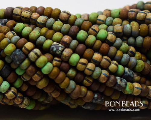 6/0 Aged Rustic Chameleon Tube Picasso Mix (1/4 Kilo)