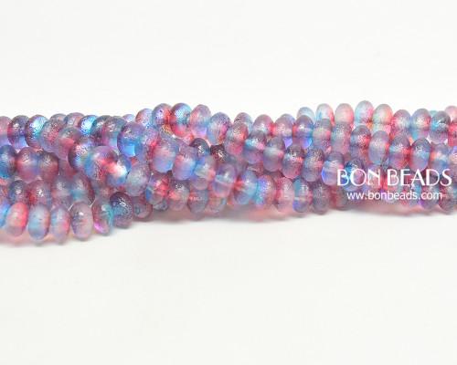 4x7mm Rainbow Celestial Etched Rondelles (300 Pieces)