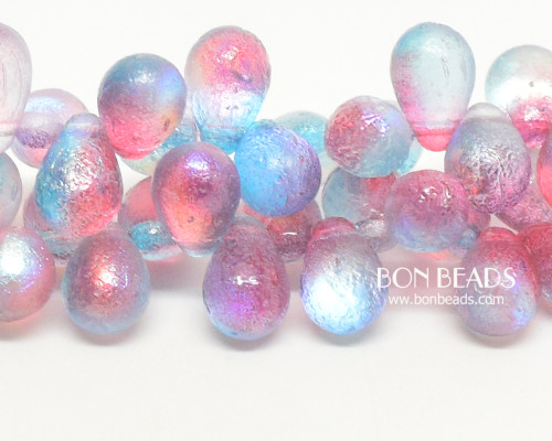 6x9mm Etched Rainbow Celestial Drops (150 Pieces)