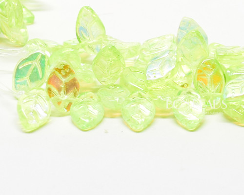 12x7mm Neo Mint Celestial Leaves (300 Pieces)