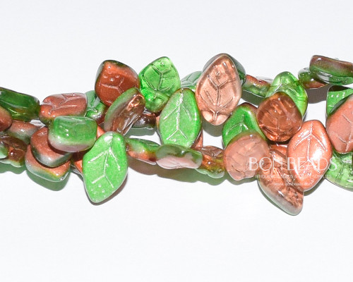 12x7mm Matted Fall Multi Celestial Leaves (300 Pieces)