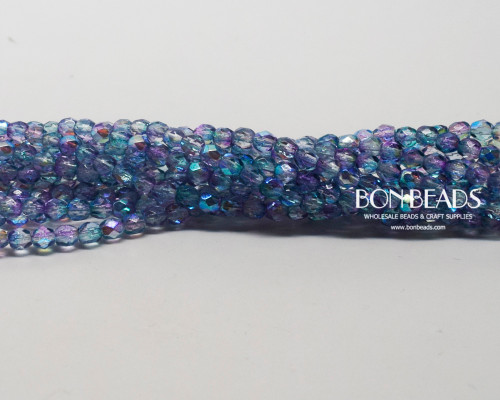4mm Aqua Celestial Fire Polished (600 Pieces)