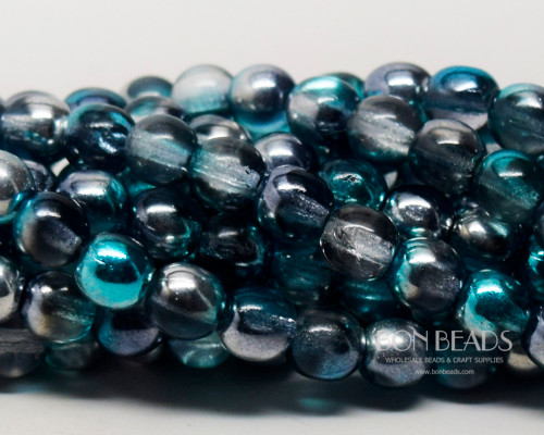 6mm Azure Celestial Round Smooth Druks (300 Pieces)