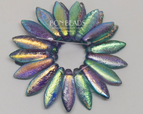 5x16mm Aqua Celestial Etched Daggers (300 Pieces)