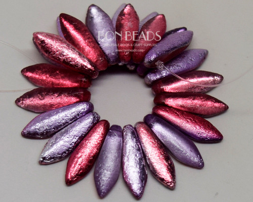 5x16mm Mauve Celestial Etched Daggers (300 Pieces)