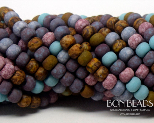 2/0 BonBon™ Aged Matted Kiler Frost Picasso Mix (1/4 Kilo)