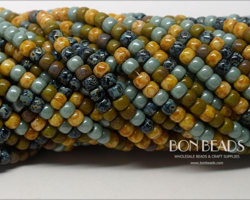6/0 BonBon™ Aged Bonsai Picasso Mix (1/4 Kilo)
