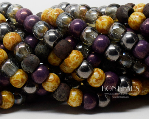 32/0 BonBon™ Aged Imperial Purple Picasso Mix (1/4 Kilo)