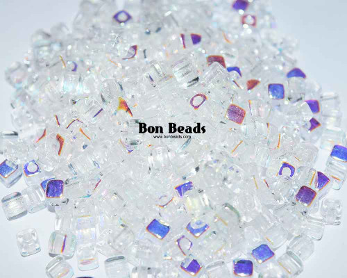 6/0 Crystal AB Cubix® (50 Grams)