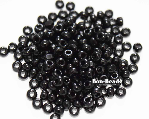8/0 Black Charlottes (50 Grams)