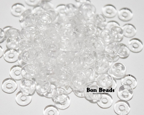 4x1mm Crystal Luster O Beads (100 Grams)