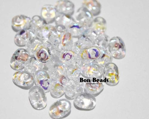 2.5x5mm Crystal AB Superduos (50 Grams)
