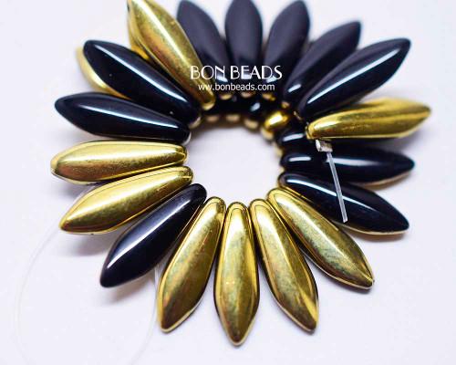 5x16mm Black Gold Daggers (300 Pieces)