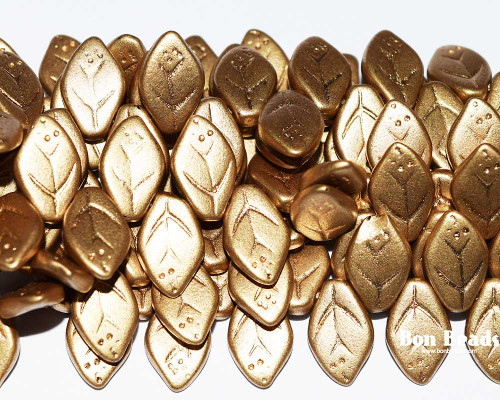 12x7mm Aztec Gold Leaves (300 Pieces)