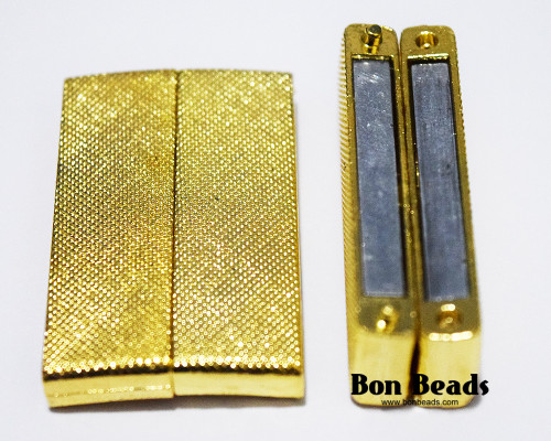 40x24x7mm Gold Wide Magnetic Bar Clasp (Each)