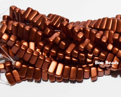3x6mm Old Copper 2 Hole Bricks (600 Pieces)