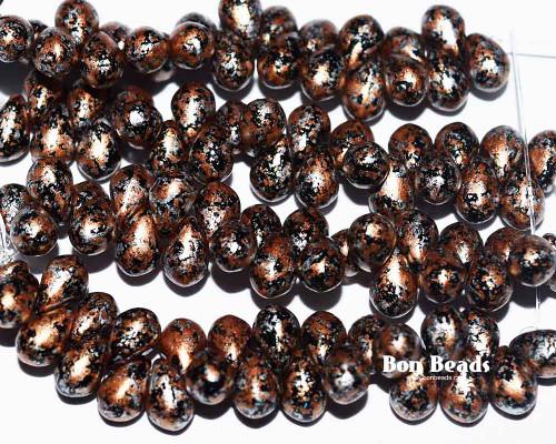4x6mm Granite Galaxy Gold Drops (300 Pieces)