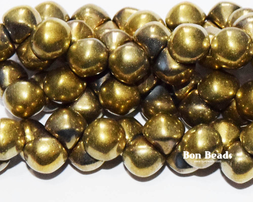 9x8mm Gold Aurum Standard Cap Mushroom Buttons (150 Pieces)