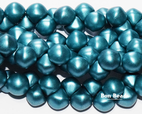9x8mm Pastel Teal Standard Cap Mushroom Buttons (150 Pieces)