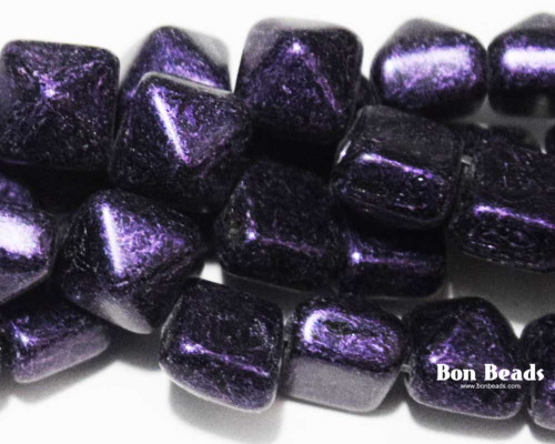 8mm Van Gogh Eggplant 2 Hole Pyramids (150 Pieces)