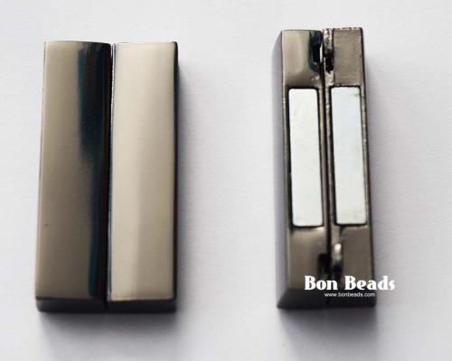 37x19x7mm Classic Gunmetal Magnetic Bar Clasp (Each)