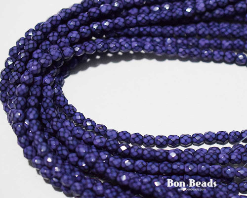 4mm Lavender Round Snake Fire Polished (600 Pieces)