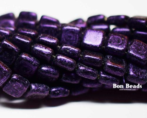 6mm Van Gogh Eggplant  2 Hole Tiles (600 Pieces)