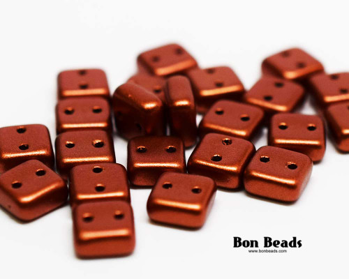 6mm Old Copper 2 Hole Chexx (100 Grams)